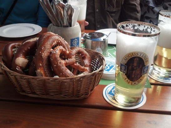 Munich Beer and Pretzel